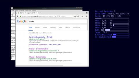 Conky system information on desktop